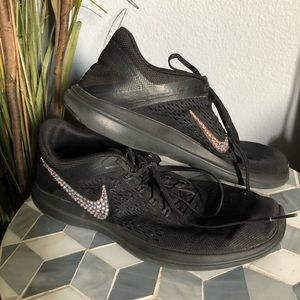 Nike swarovski encrusted crystal shoe